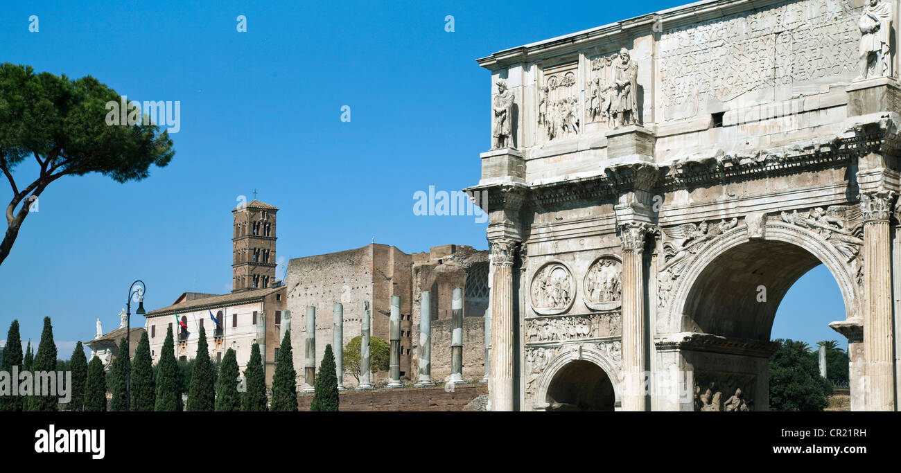 Arch of Constantine in Rome - Stock Image
