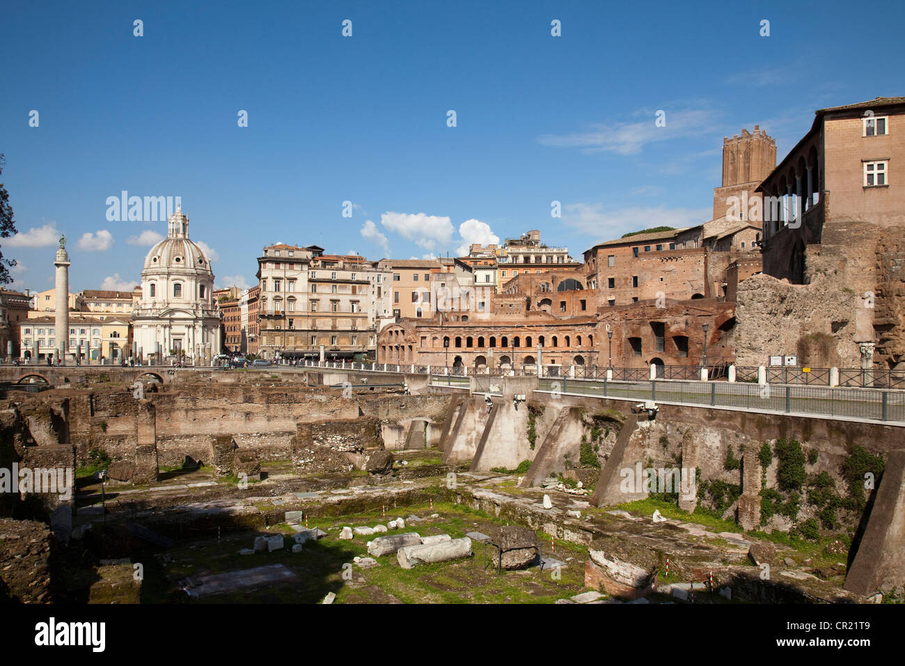 Ancient ruins in Rome - Stock Image