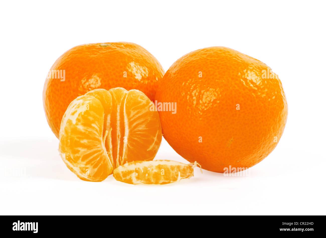 Mandarin isolated on white background - Stock Image