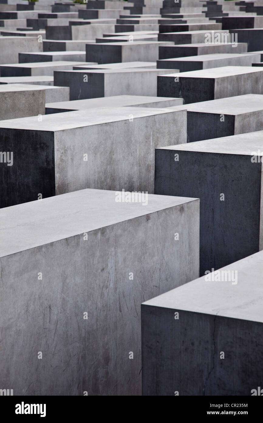 Close up of concrete sculptures - Stock Image