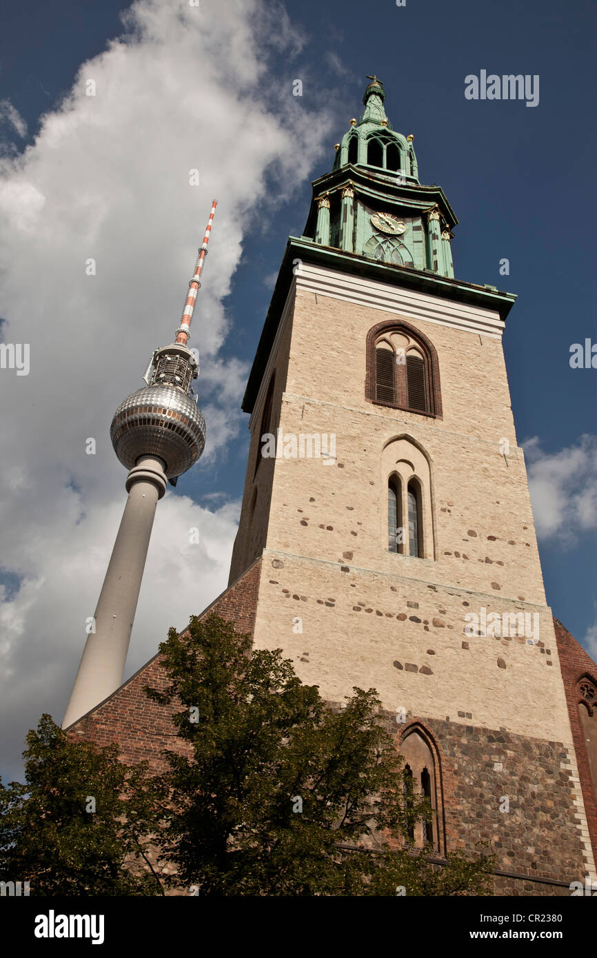 Low angle view of towers - Stock Image