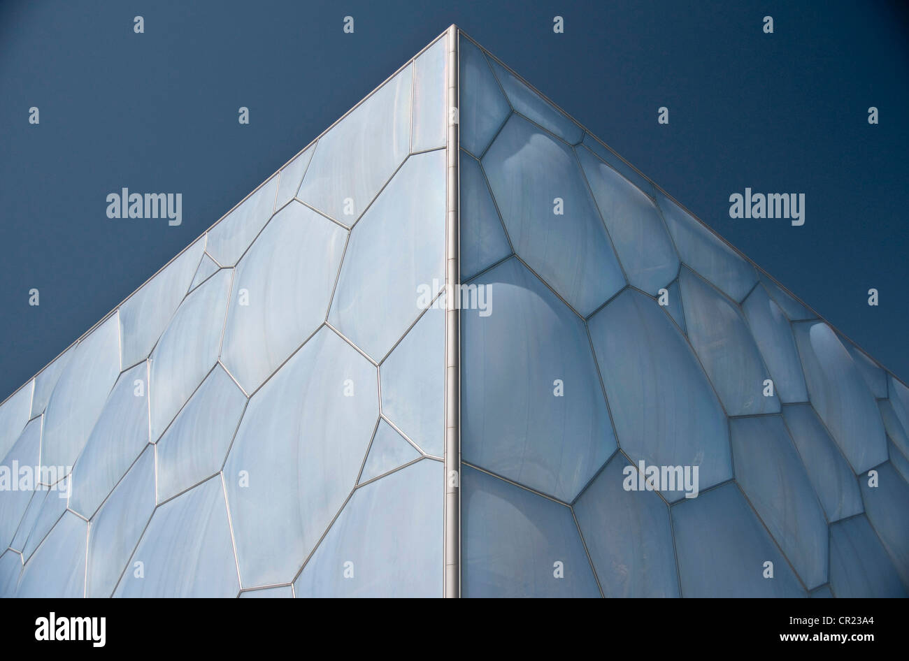 China, Detail of National Aquatic Center, the Water Cube - Stock Image