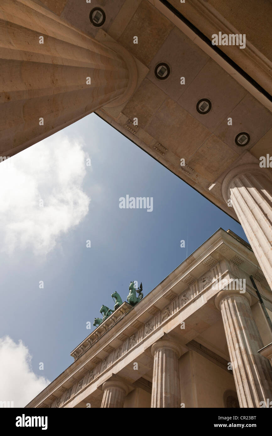 Low angle view of columned building - Stock Image