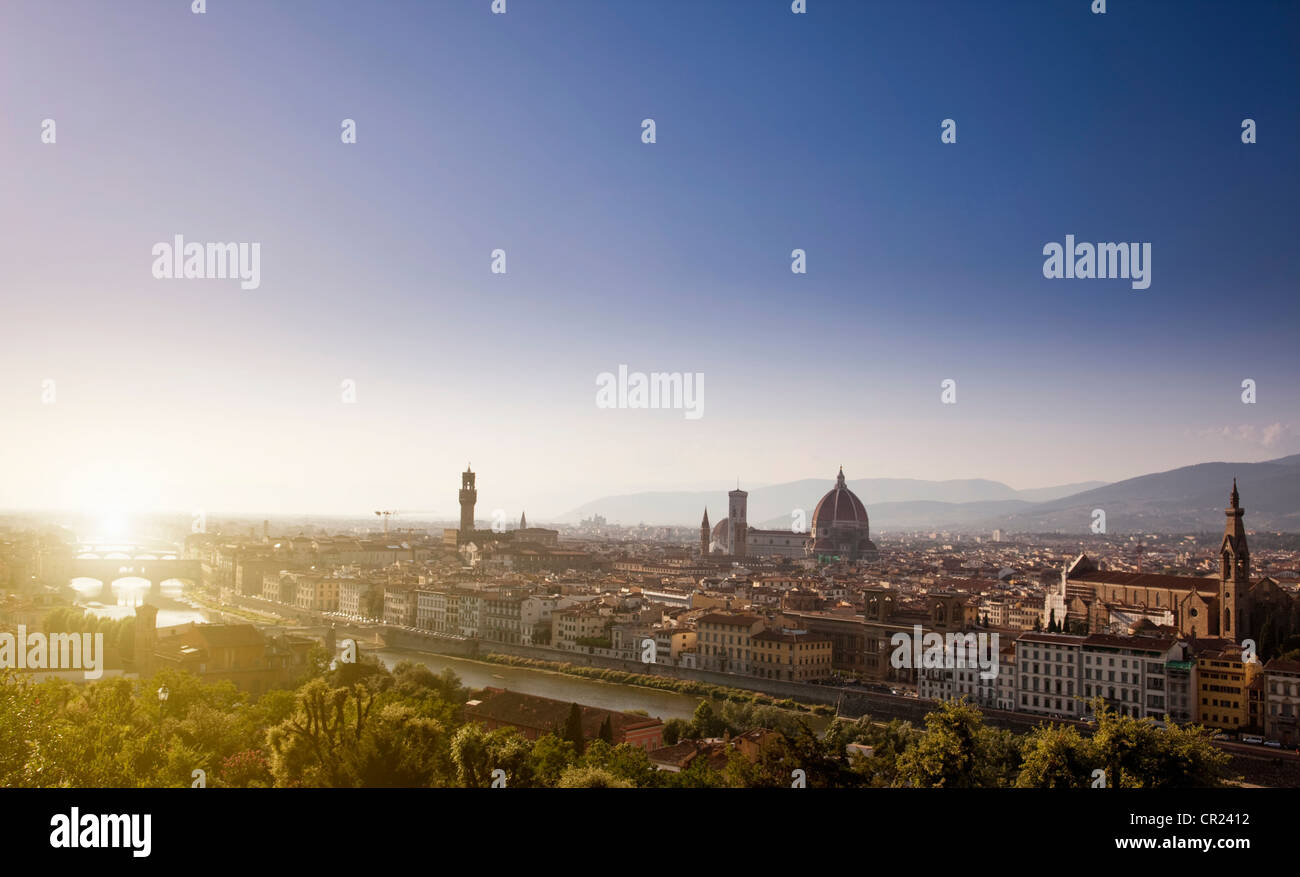 Aerial view of Florence, Italy - Stock Image