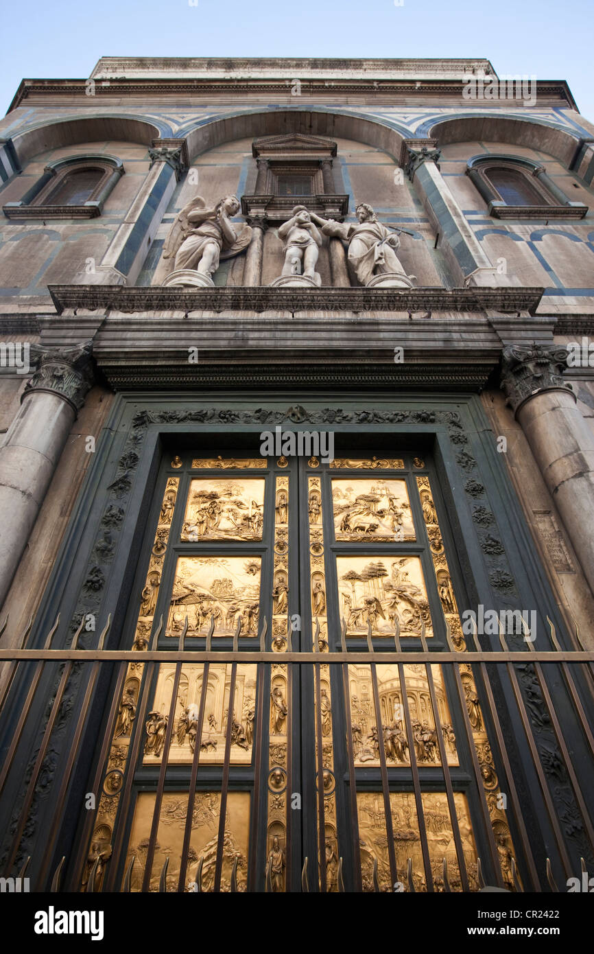 Porta del Paradiso of Duomo cathedral - Stock Image