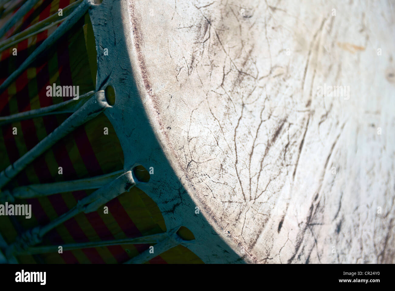 first nations drum detail - Stock Image