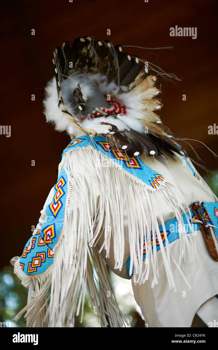 first nations dancer - Stock Image
