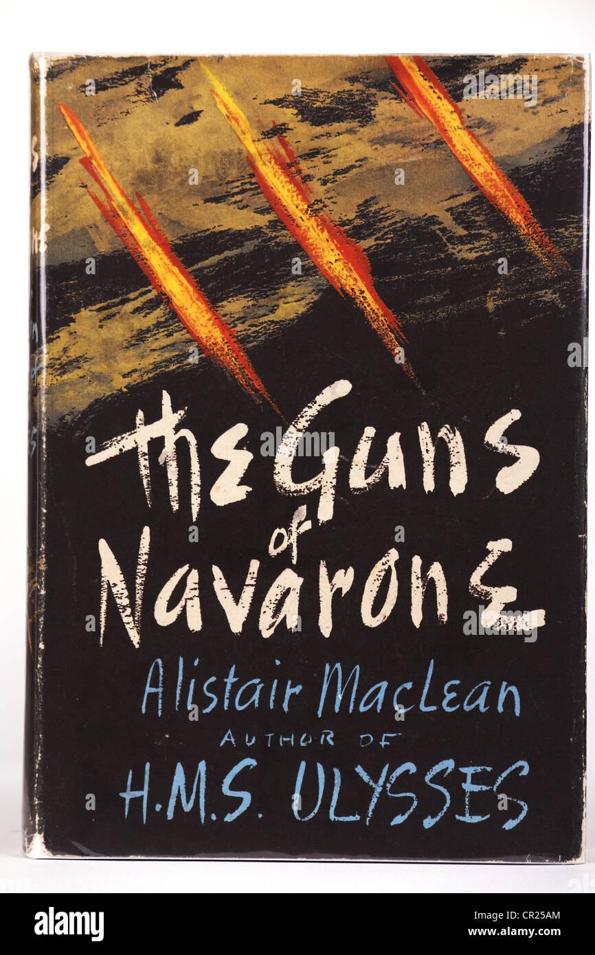 The Guns of Navarone book cover original illustration - Stock Image