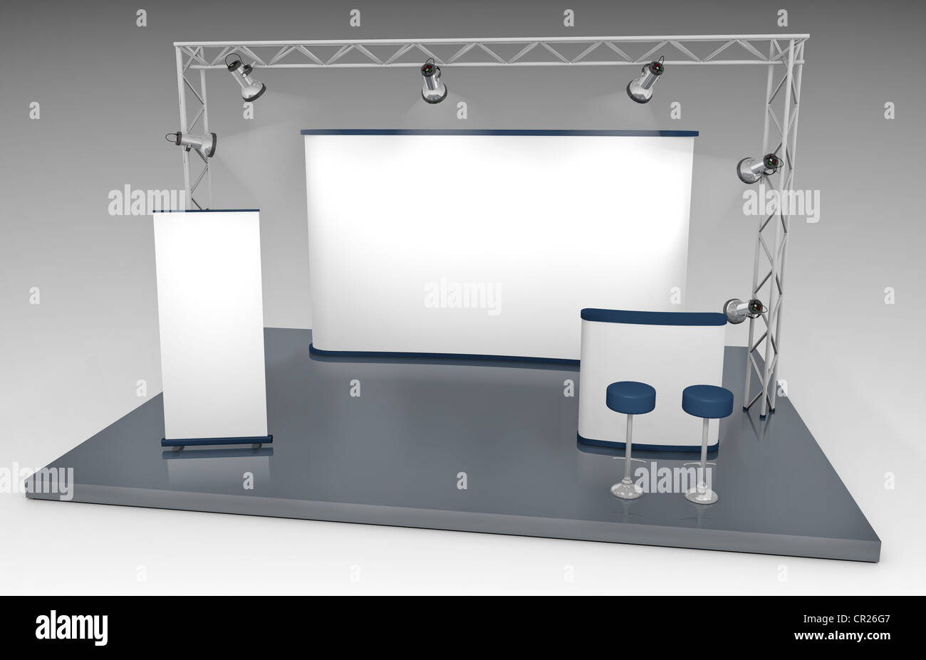 Exhibition Stand With Screen : Lcd exhibition display stand with graphic panel