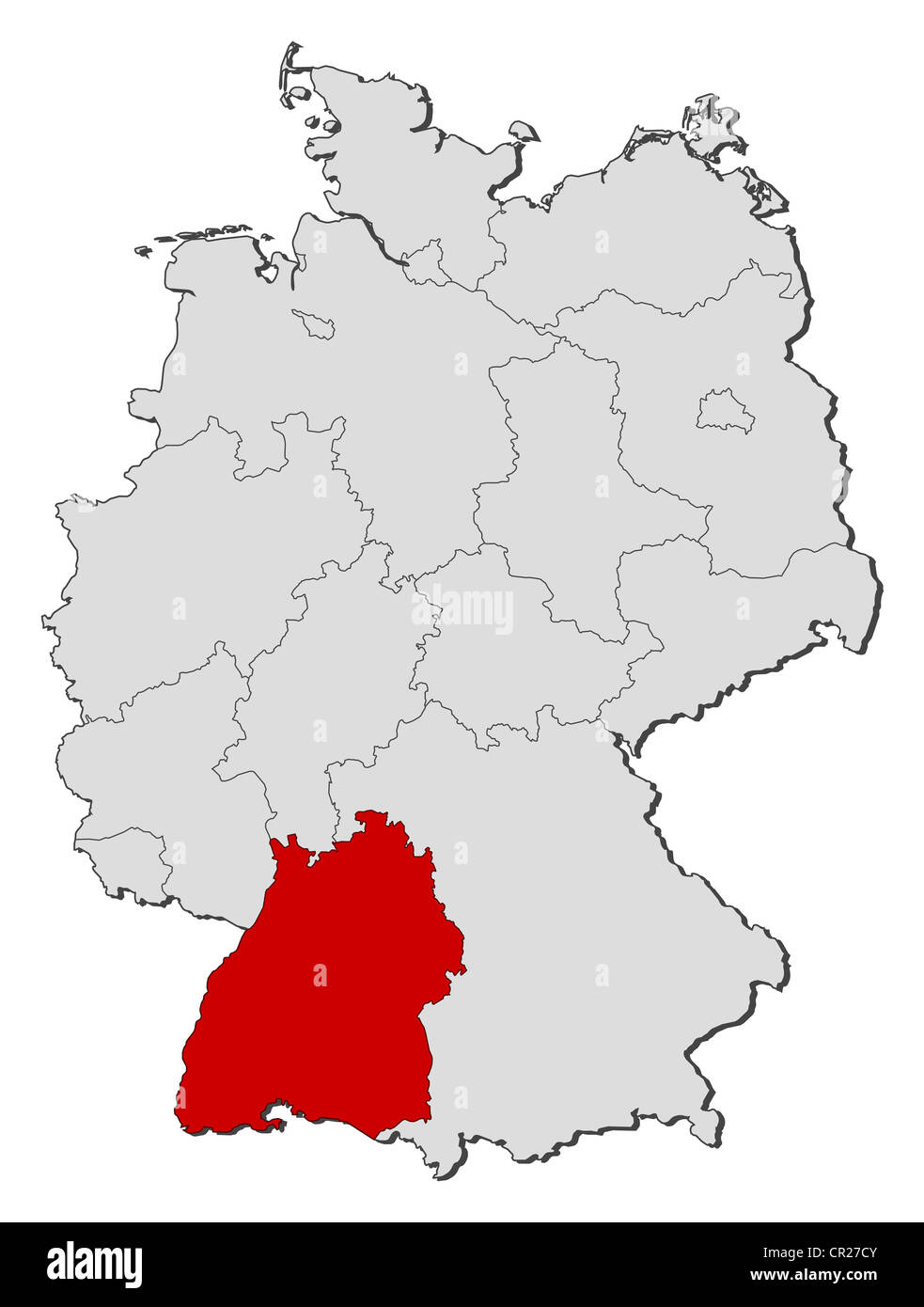 Map Baden Wurttemberg Stock Photos Map Baden Wurttemberg Stock
