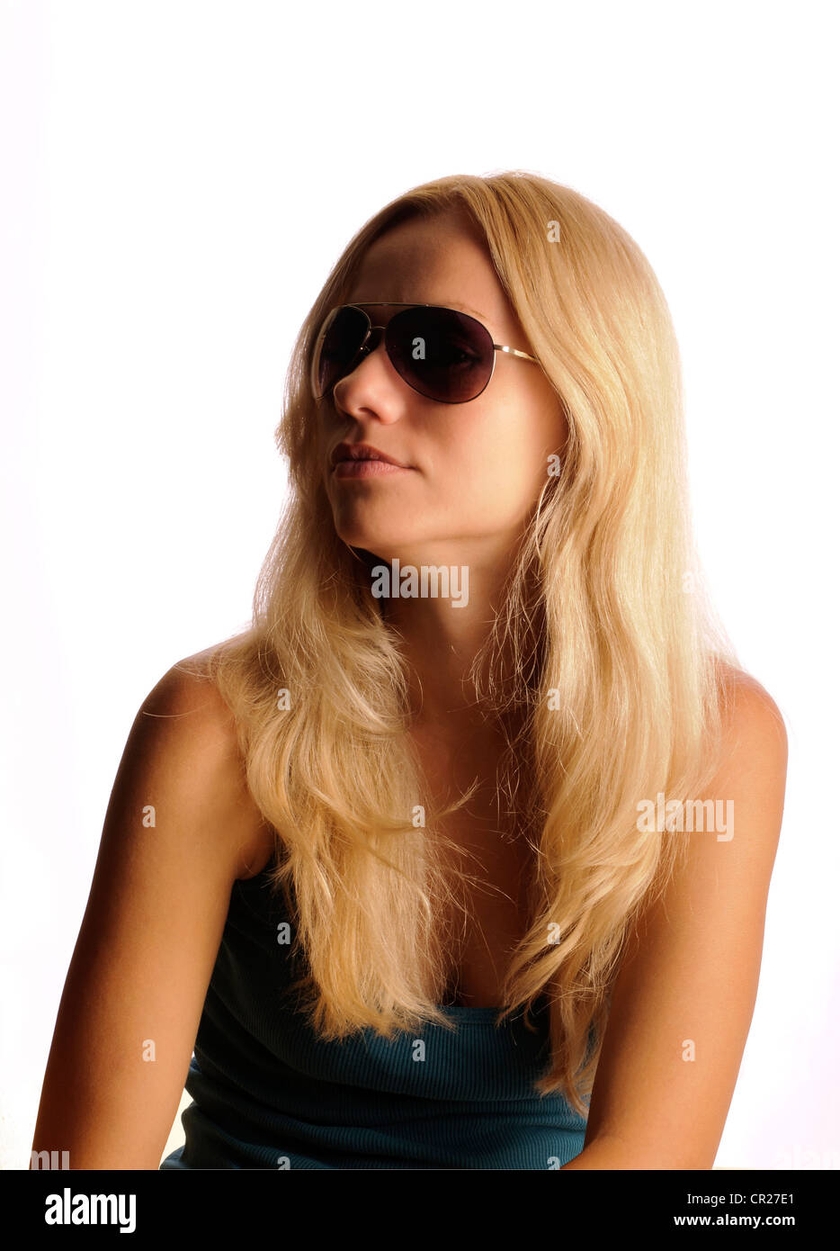 Girl with sunglasses - Stock Image