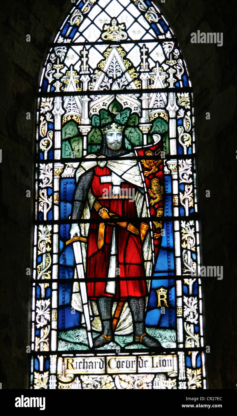 Stained Glass King Richard I Dore Abbey St Marys Abbey Dore Golden
