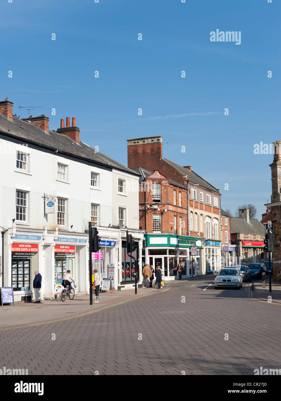 Town centre, Market Harborough, Leicestershire, England, UK - Stock Image