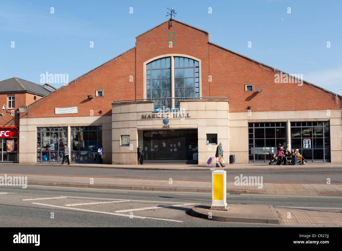 The Market Hall, Market Harborough, Leicestershire, England, UK - Stock Image