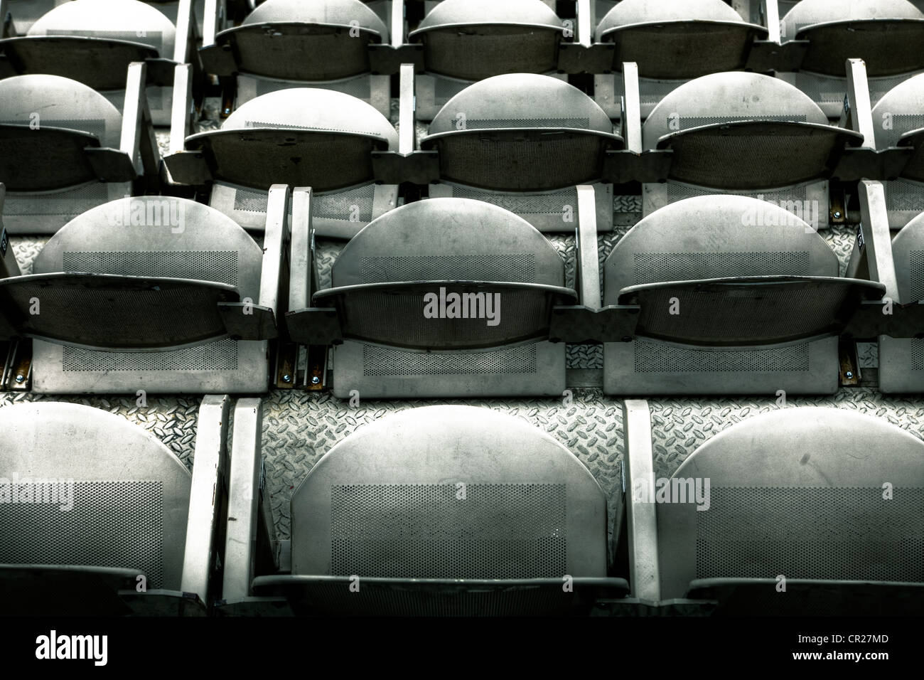 Rows of chairs in an open-air theater - Stock Image