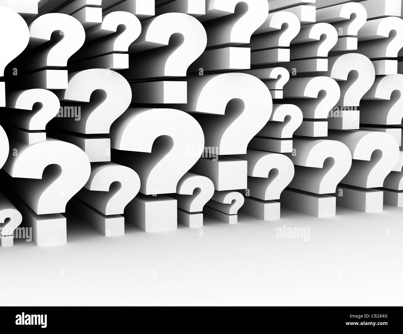 Group Of Question Marks Stock Photo
