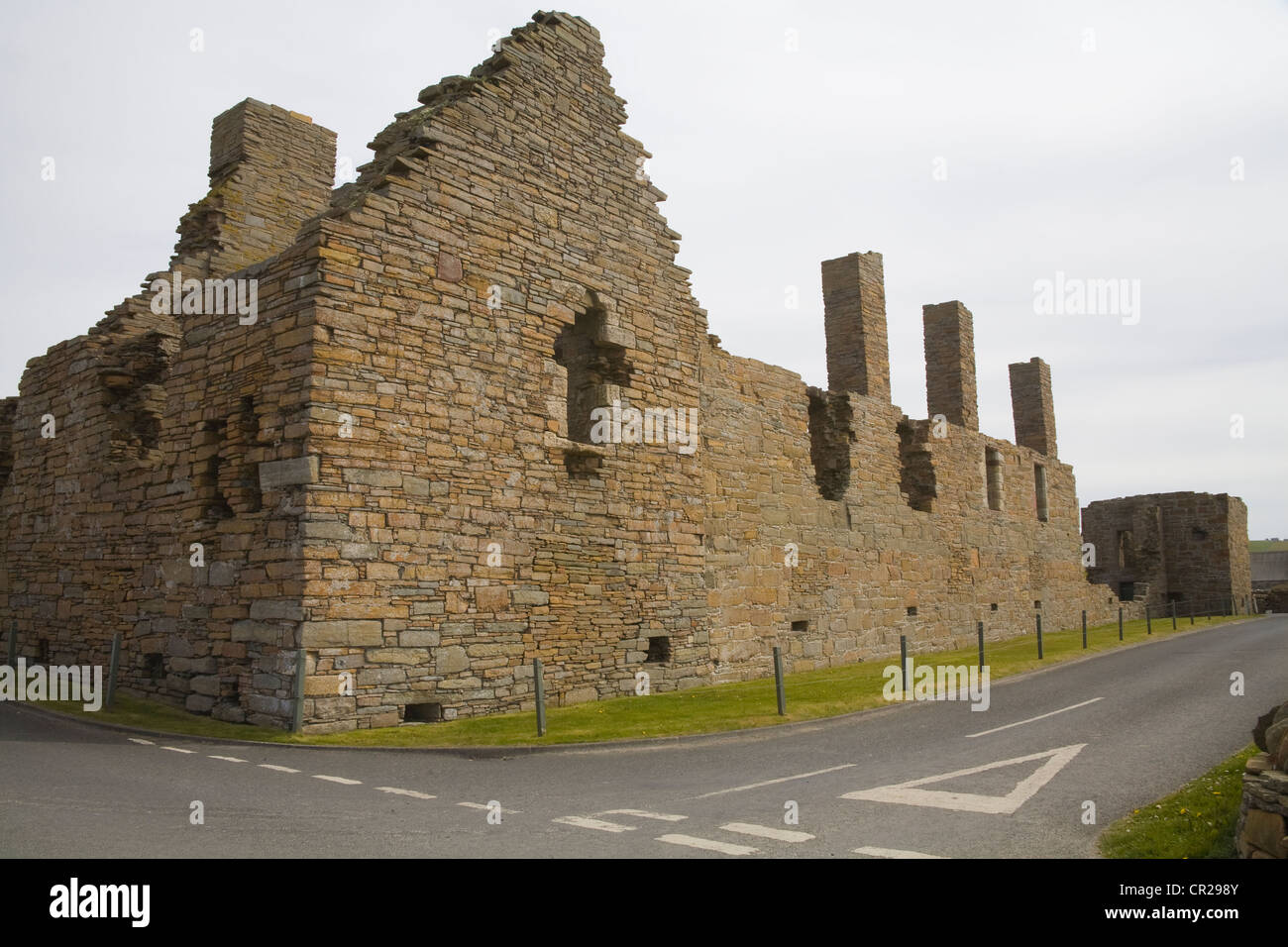 Birsay Orkney Islands West Mainland Scotland May Ruins of Earl's Palace built by Earl Robert Stewart in 16thc - Stock Image