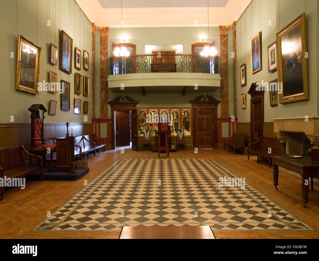 Interior of masonic lodge beamish museum county durham for Build me a home
