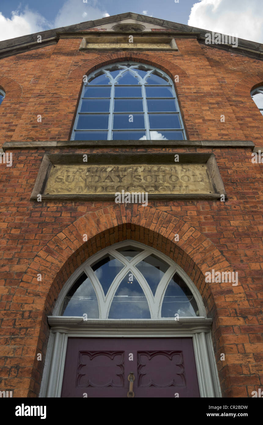 St Matthew's Sunday School building Liverpool Road Manchester Grade 2 listed - Stock Image