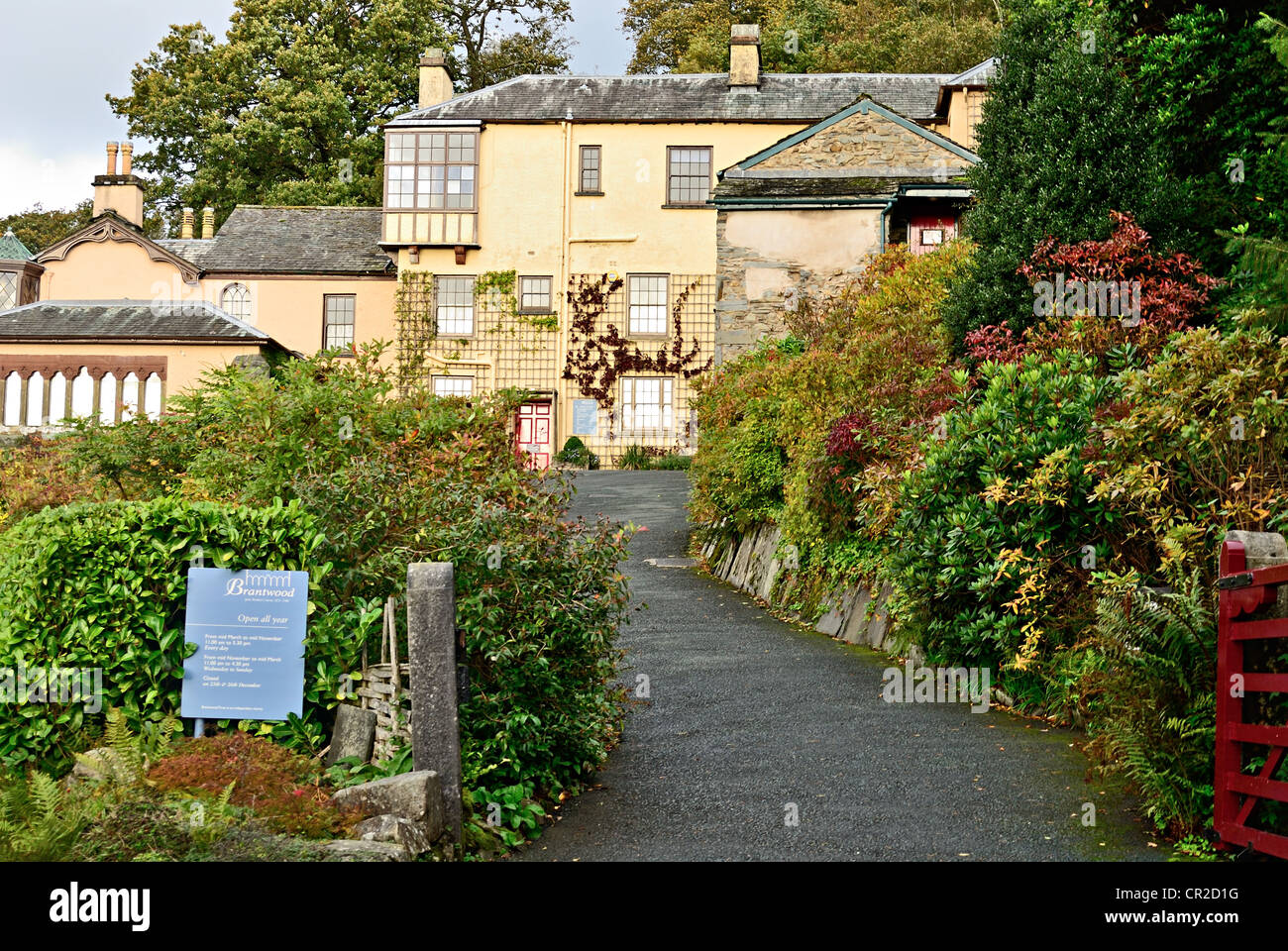 Brantwood House - Stock Image