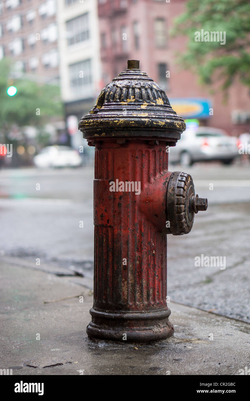 New York City fire hydrant on third avenue - Stock Image