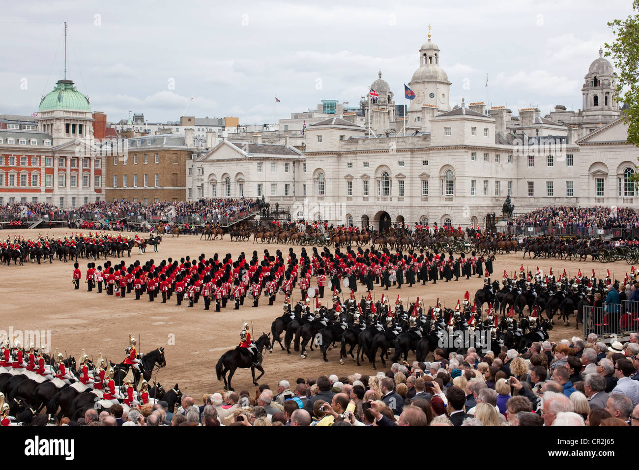 Soldiers Trooping Colour 2012 Birthday Stock Photos