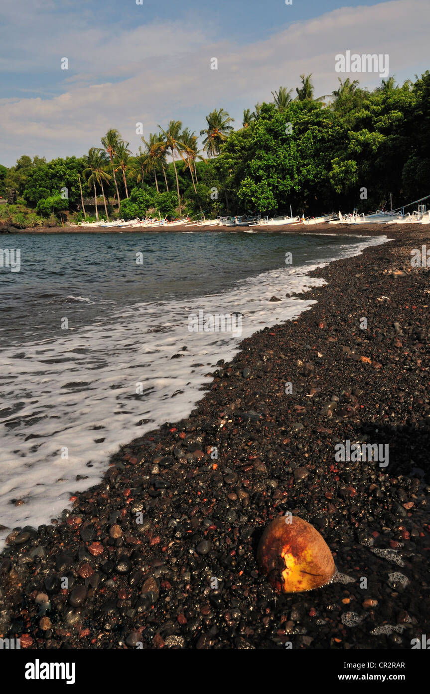 Tulamben beach, Bali, Indonesia, Asia - Stock Image