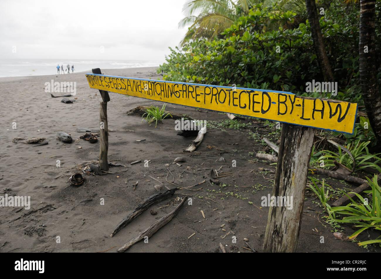 Tortuguero turtle nesting beach preserve - Tortuguero National Park, Costa Rica - Stock Image