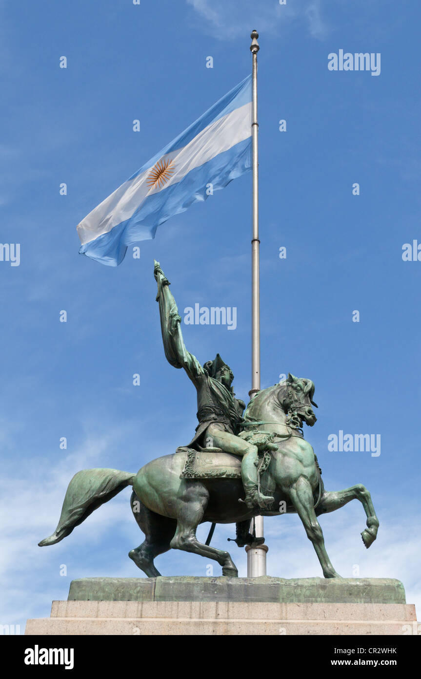 Monument of General Belgrano, Plaza De Mayo Buenos Aires - Stock Image
