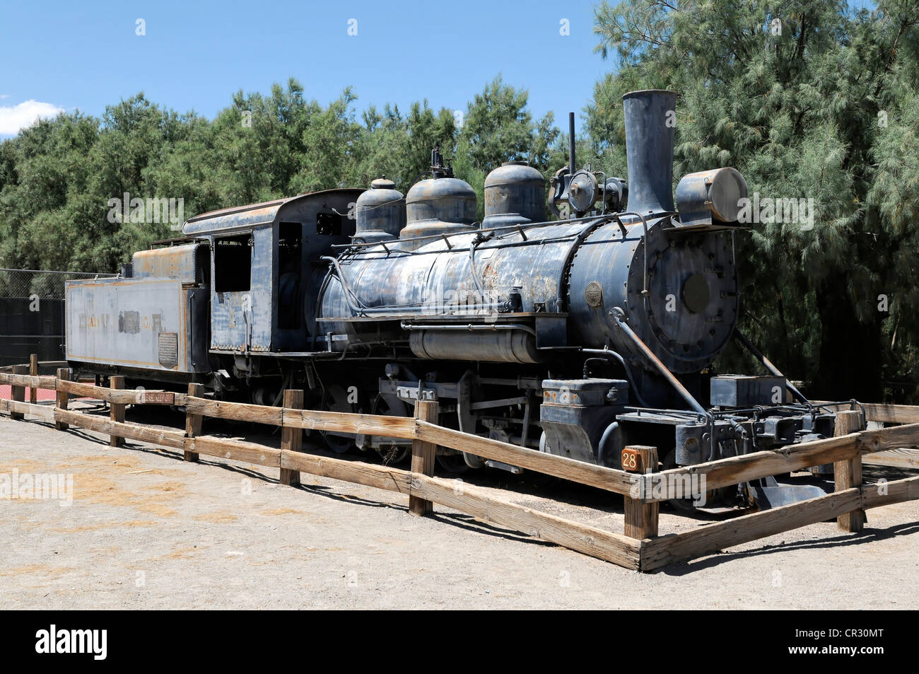 Historic steam locomotive, Furnace Creek Ranch Resort Oasis, Death