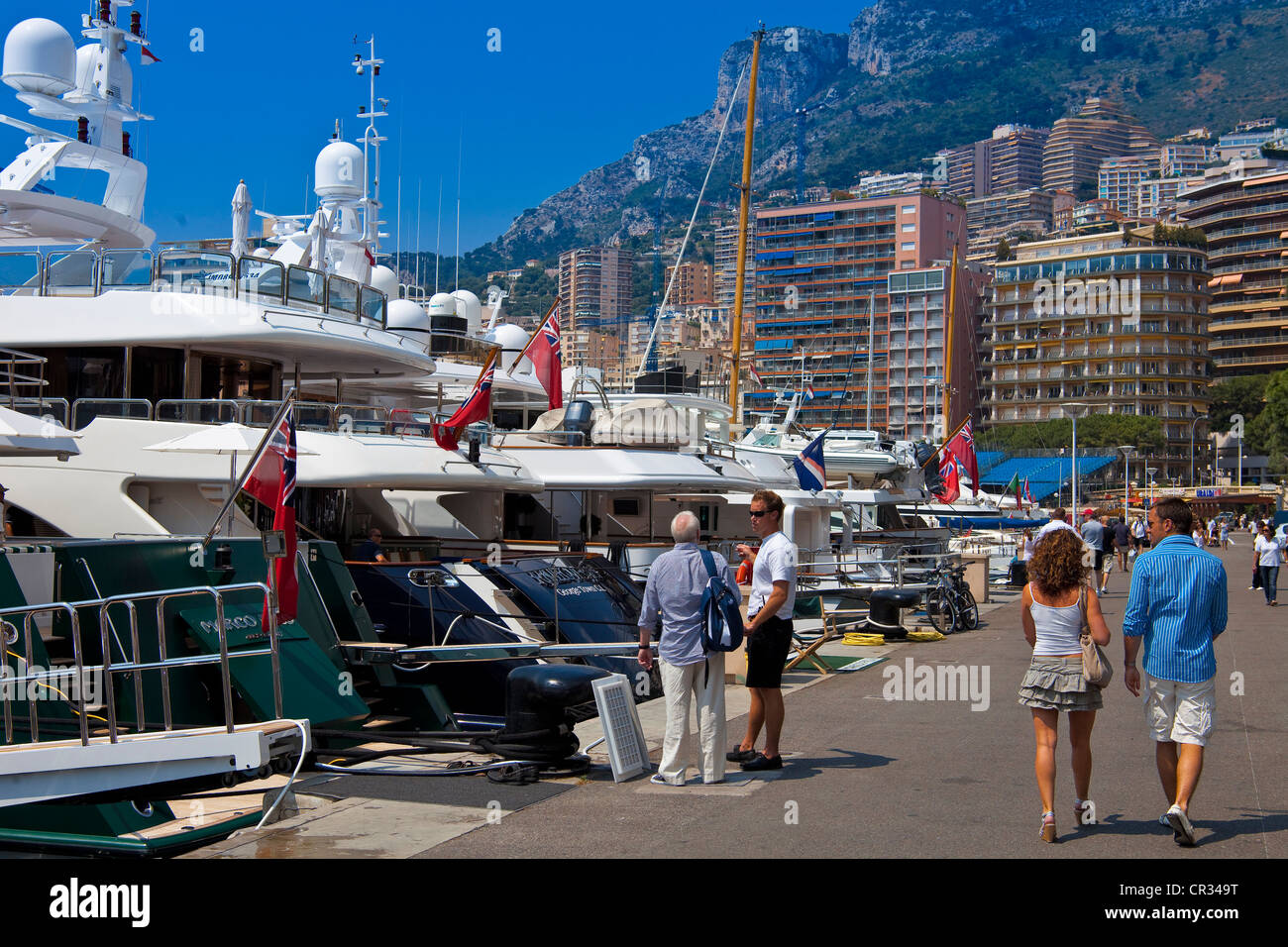 Principality of Monaco, Monte Carlo, Hercules Harbour - Stock Image