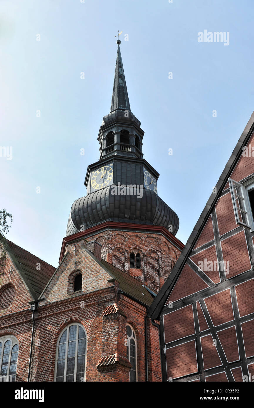 St. Cosmae et Damiani, Church of Saints Cosmas and Damian, construction began mid-13th Century, Hanseatic town of - Stock Image