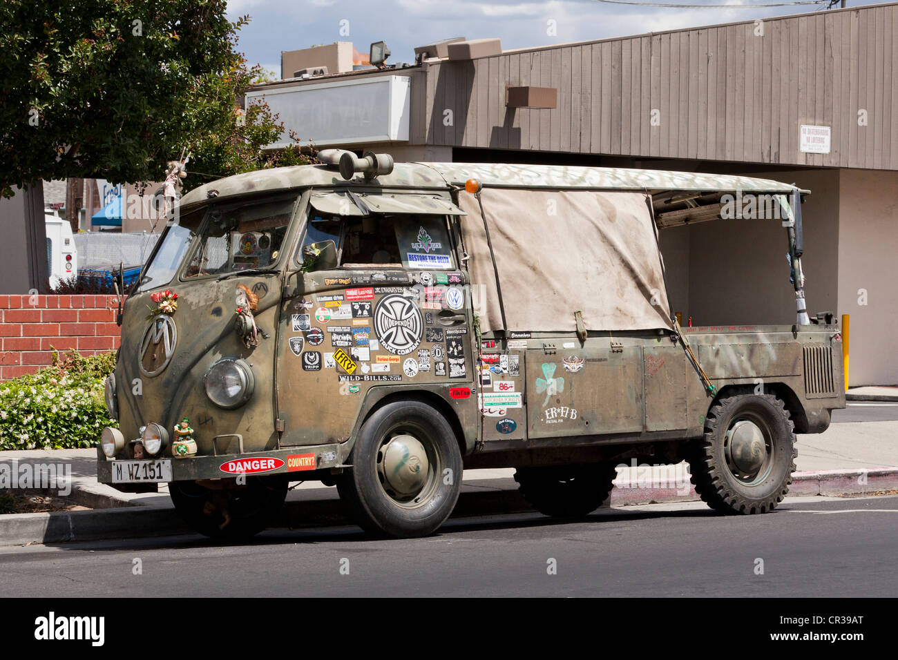 Veteran S Custom Restored Antique Vw Kombi Van Stock Photo