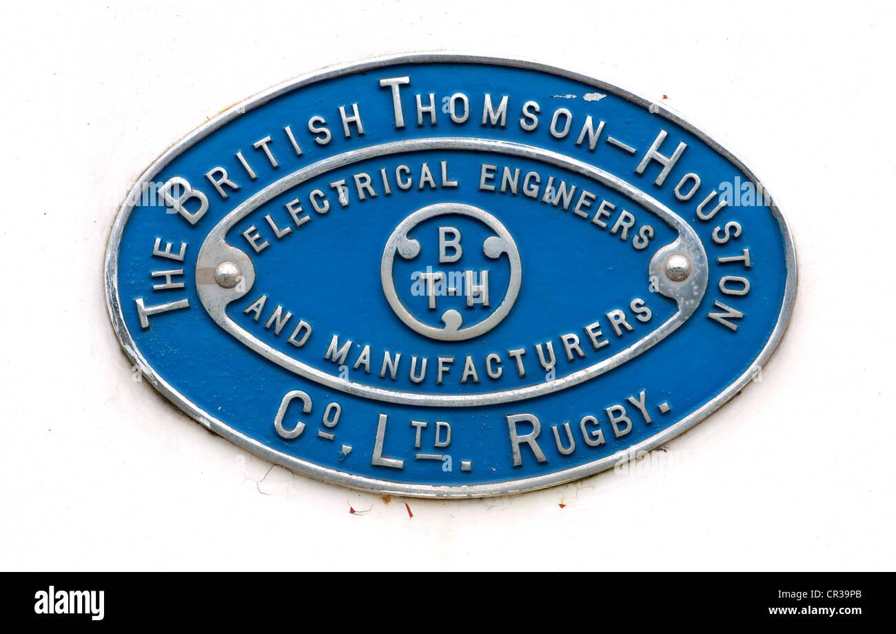 The British Thomson-Houston Company Limited badge Stock Photo