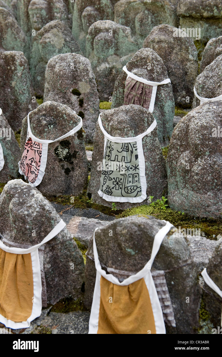 Japan, Honshu Island, Kinki Region, city of Kyoto, Buddhist monastery of Daitoku Ji, Stone Garden - Stock Image