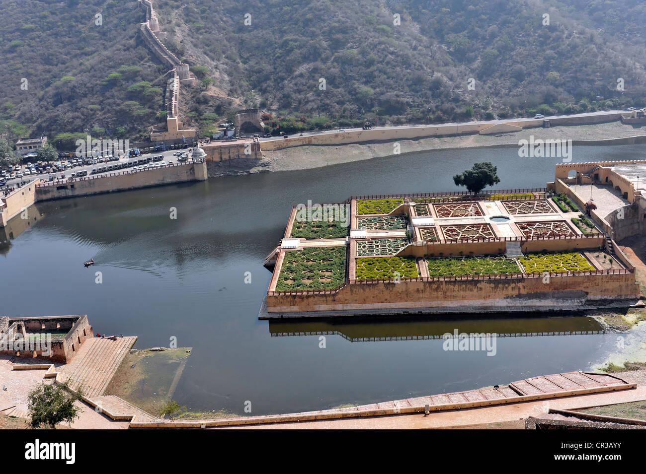 Kesar Kyari Bagh gardens, Fort Amber, Amber, near Jaipur, Rajasthan, North India, India, South Asia, Asia - Stock Image
