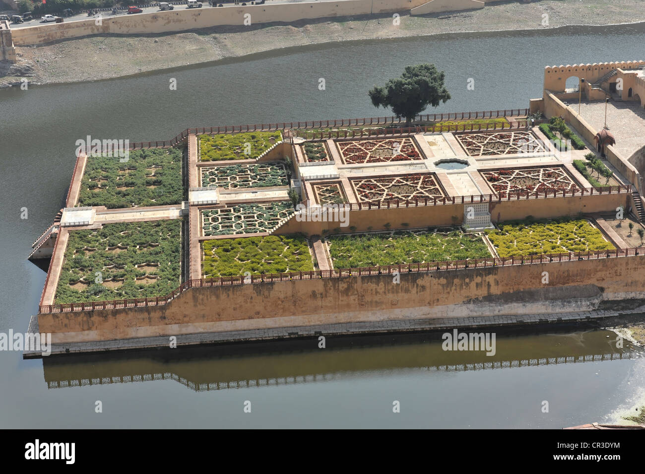 Kesar Kyari Bagh gardens, Amber Fort, Amber, near Jaipur, Rajasthan, North India, India, South Asia, Asia - Stock Image
