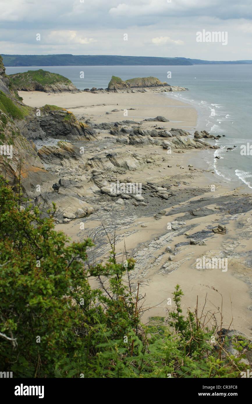 Welsh Coastal Path - Stock Image
