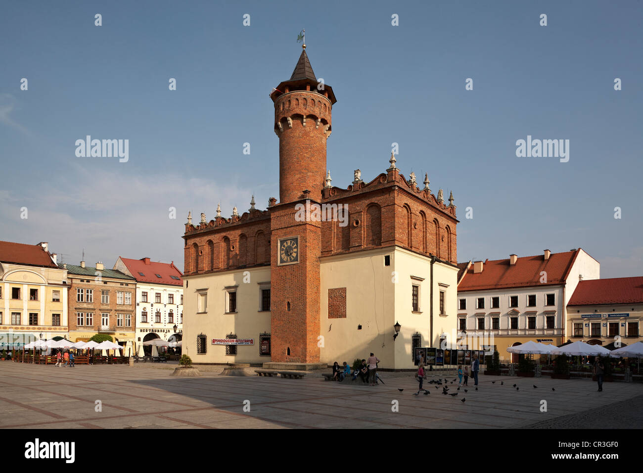 Eastern Europe Poland Tarnow Rynek Main Square 15th-century Town Hall - Stock Image