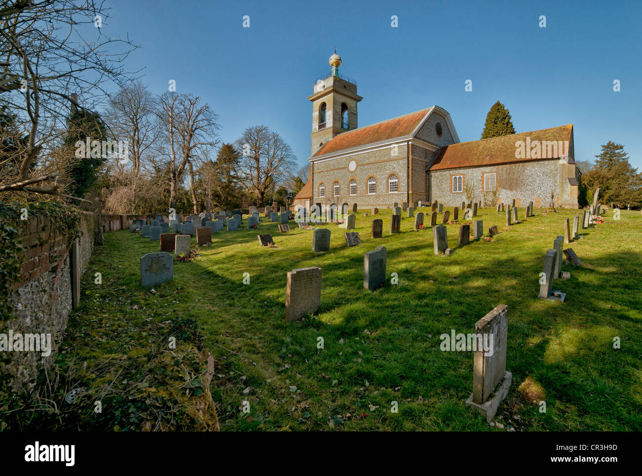 St Lawrence's Church, West Wycombe, Buckinghamshire - Stock Image
