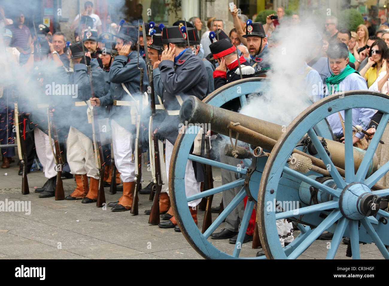The 153rd anniversary of the 'Battle of Magenta' June 4, 1859 - Stock Image