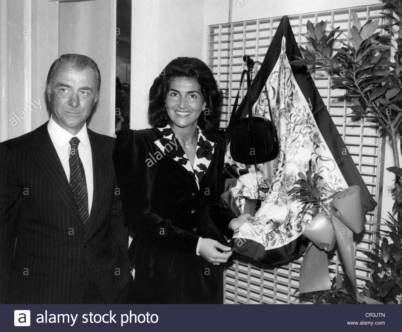 Gucci Italian Fashion Designer Half Length With His Wife At Stock Photo Alamy