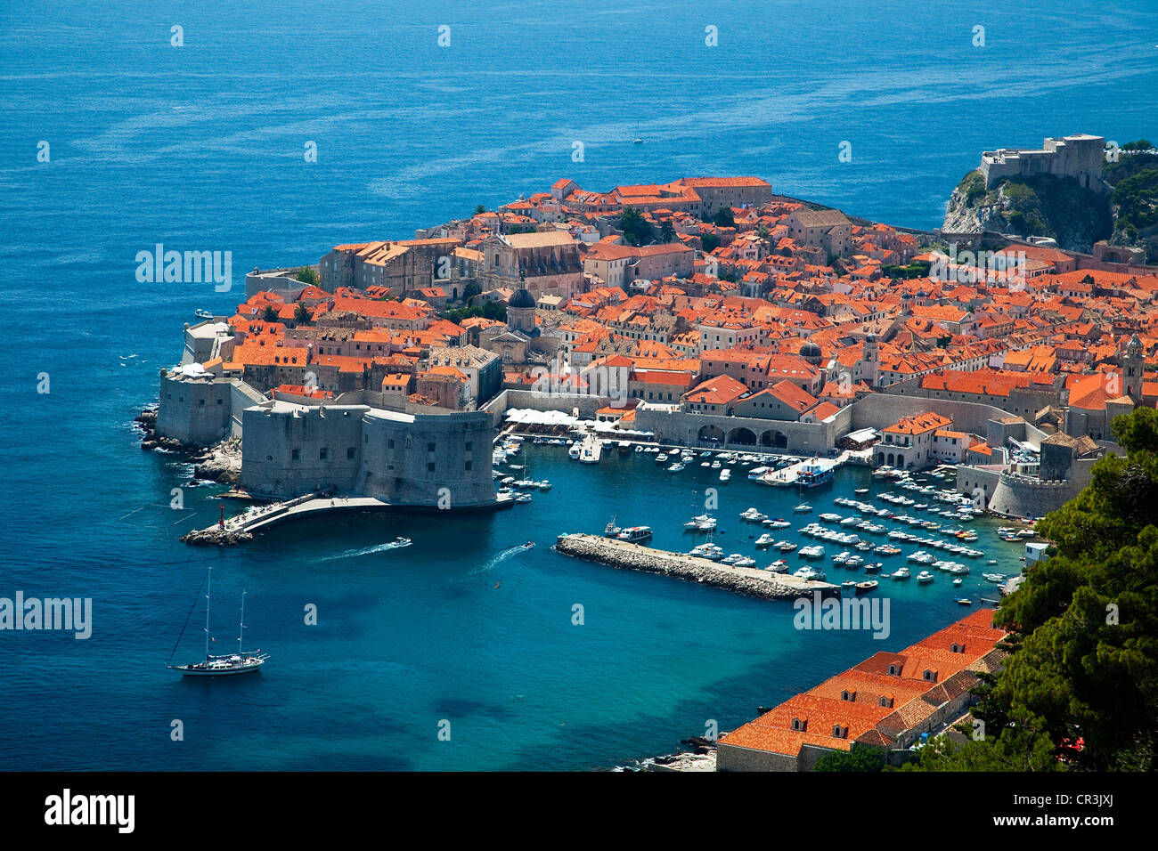 Croatia, Dalmatia, Dalmatian Coast, Dubrovnik, historical centre UNESCO World Heritage - Stock Image