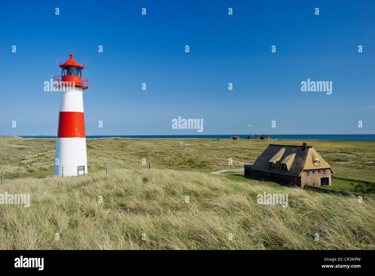 List-Ost lighthouse, List, Sylt, Schleswig-Holstein, Germany, Europe - Stock Image
