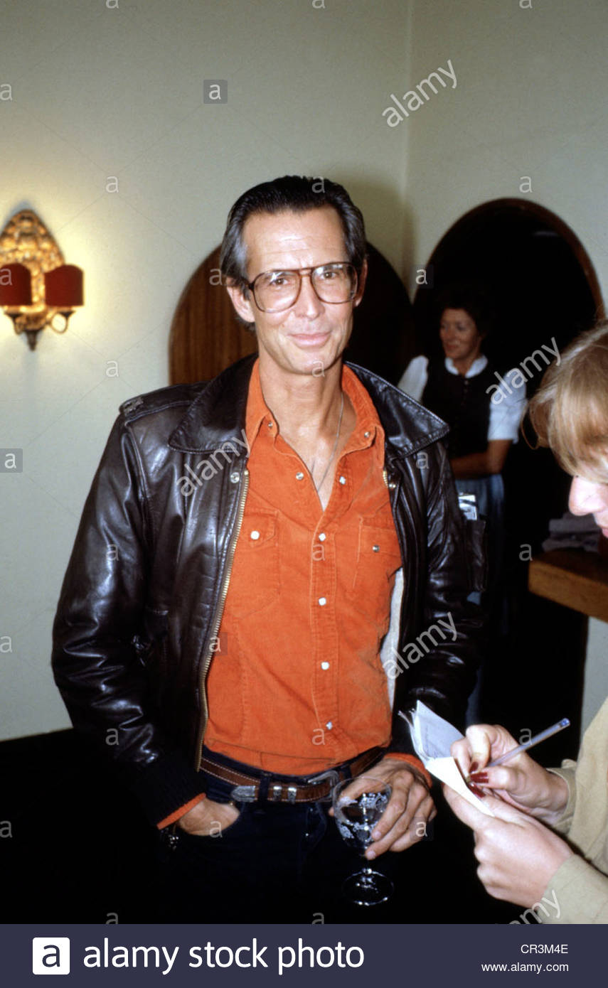 Perkins, Anthony, 4.4.1932 - 13.9.1992, US actor, half length, probably during a visit to Germany, 1980s, black - Stock Image