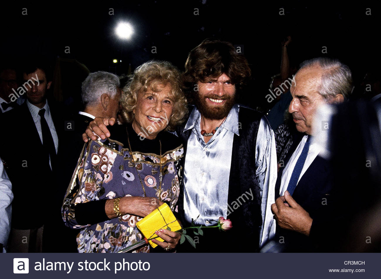 Riefenstahl, Leni, 22.8.1902 - 8.9.2003, German actress, director, photographer, group picture, with the mountaineer - Stock Image