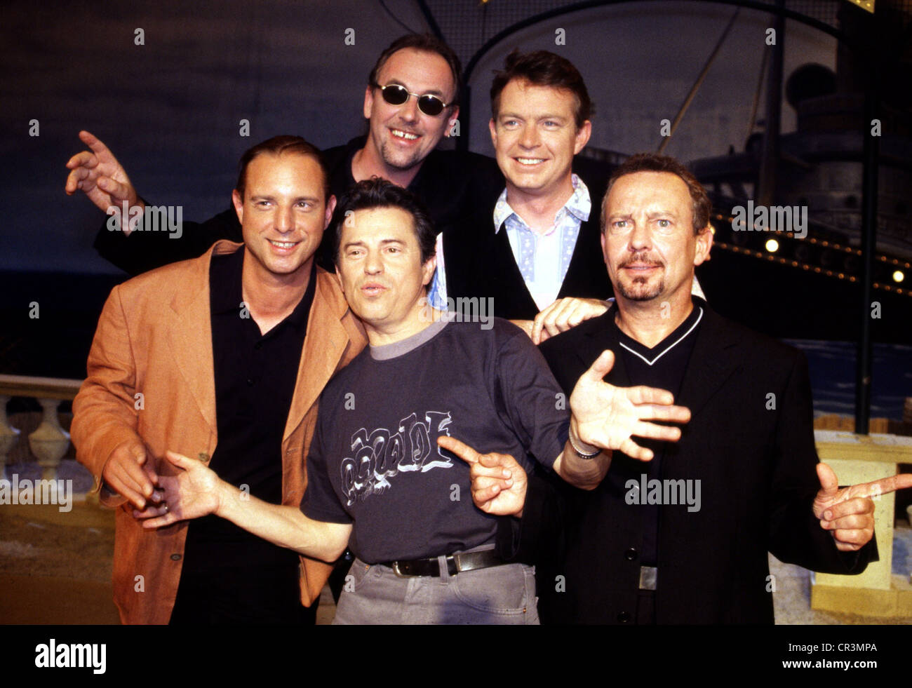 Spider Murphy Gang, German rock band, formed in 1977, group picture, in a German TV show, June 1999, Additional - Stock Image