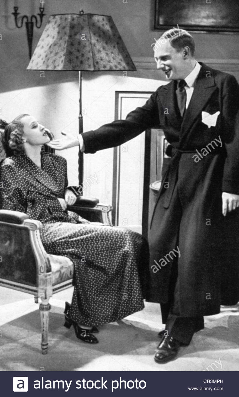 Gruendgens, Gustaf, 22.12.1899 - 7.10.1963, German actor, director, scene with Brigitte Helm in the movie 'The - Stock Image