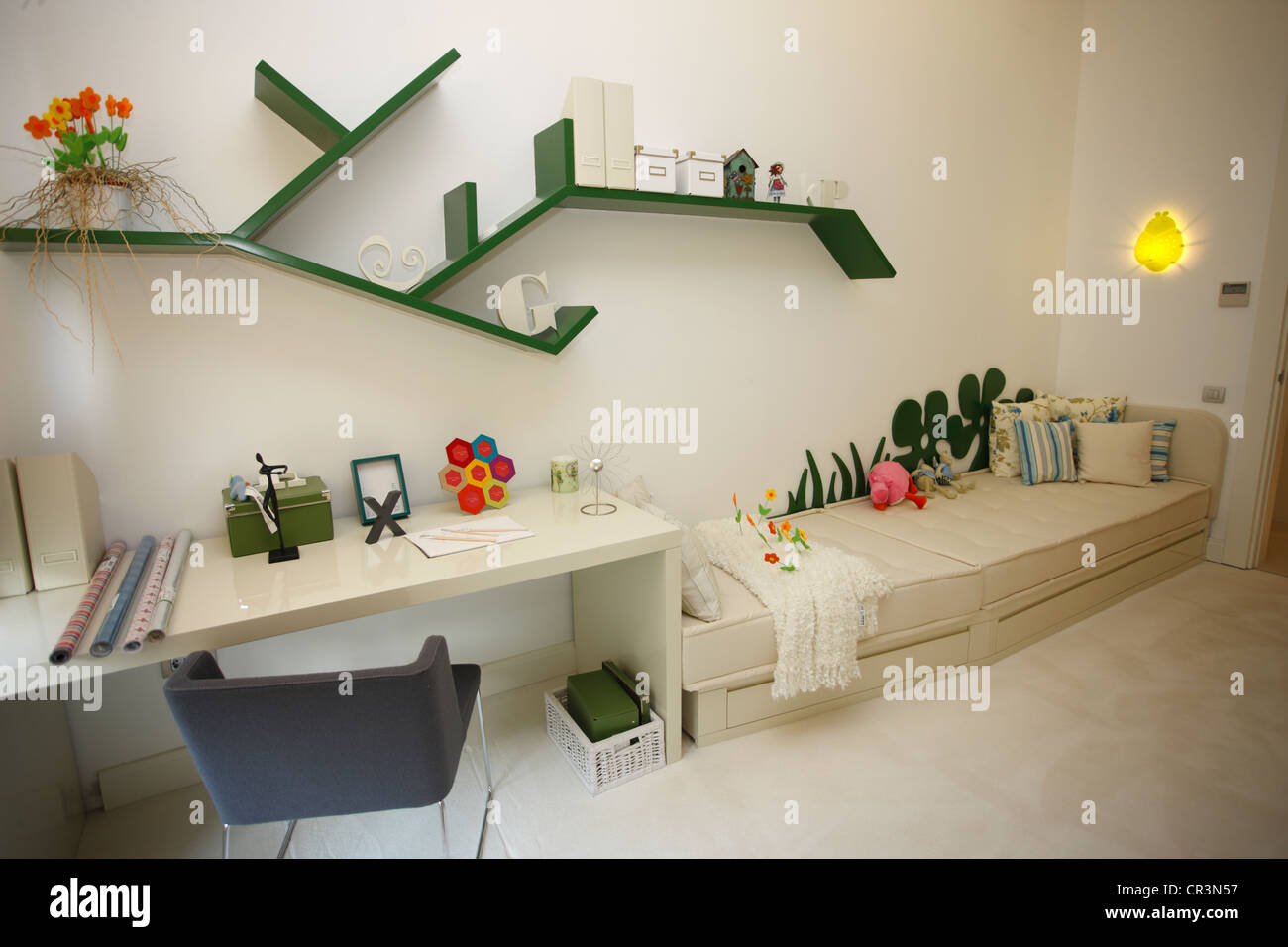 Turkey, Istanbul, model apartment of a future complex housing in the Eastern bank of the city - Stock Image