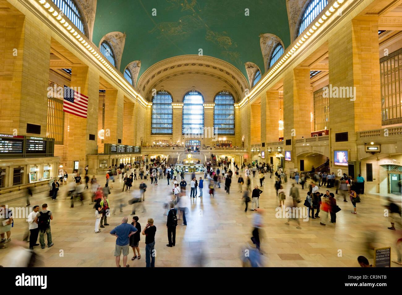 Central Station and people with motion blur, Manhattan, New York, USA, America Stock Photo